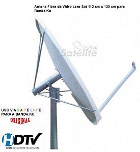 Antena Fibra de Vidro 112 cm x 120 cm para Banda Ku