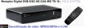 RECEPTOR IRDETO TS 16 IRD DVB-S2 (MPEG- 2 e 4 e H.264) TeleSystem