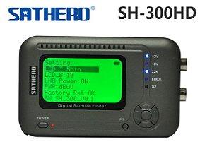 SH-300 Satfinder Digital para satélites Banda C e Ku - HD