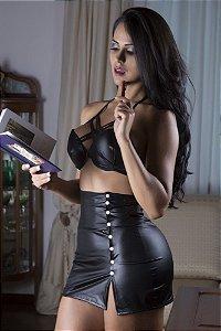 Fantasia sensual lingerie secretaria sexy