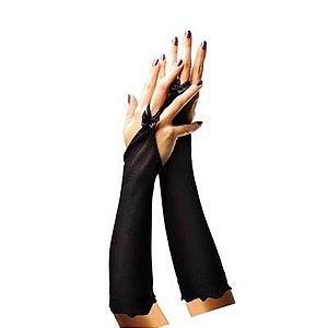 Luva - Preta c/ dedos descobertos cor preta