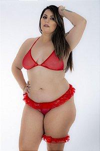 Mini lingerie sexy sensual plus size gg - COR VERMELHO