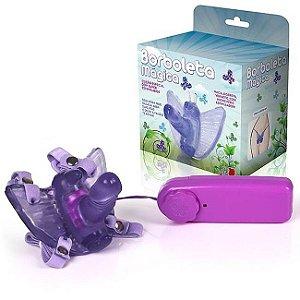 Borboleta vibradora com mini pênis lilas