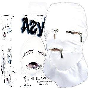 Máscara capuz com zíper - asylum multiple personality mask - tamanho g
