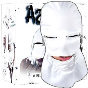 Máscara capuz com zíper - asylum multiple personality mask - tamanho m