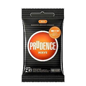 Preservativo camisinha prudence wave texturizada - 3uni