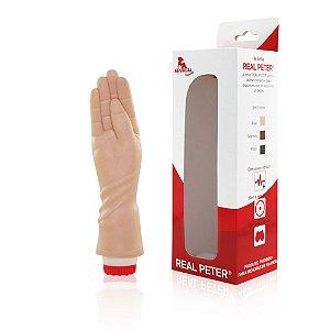 REAL PETER MÃOZINHA FISTING - prótese em formato de mão com vibrador 18.5 x 4.5cm