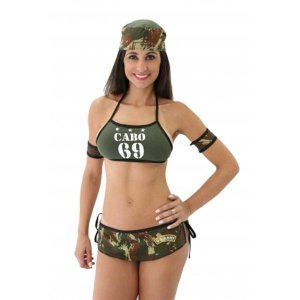 Fantasia sensual militar cabo 69