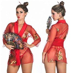 Fantasia sensual gueixa oriental