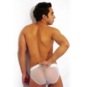 Cueca Up Transparente Branca