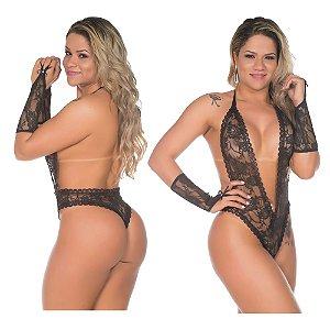 Body fashion lingerie sensual sexy - cor preta