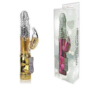 Vibrador Rotativo 36 Funções com Estimulador Clitoriano