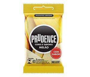 Preservativo camisinha prudence sabor Melão - 3uni