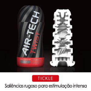 TENGA AIR TECH TWIST TICKLE - COPO MASTURBADOR COM TEXTURA INTERNA