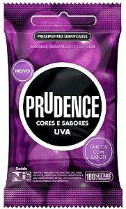 Preservativo camisinha prudence sabor uva - 3uni
