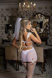 Noiva Atrevida - Vestido C/ Ligas E Veu