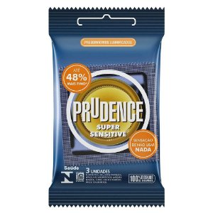 Preservativo camisinha prudence super sensitive - 3uni