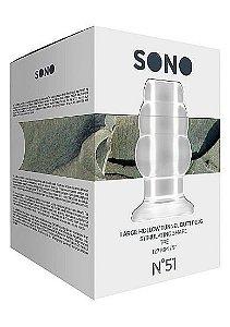 SONO Large Tunnel Butt Plug 5 Inch Translucent - Plug Anal Transparente vazado - tamanho G