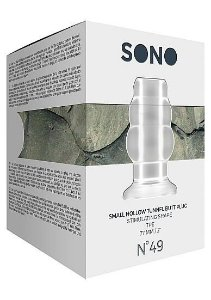 SONO Small Tunnel Butt Plug 3 Inch  Translucent - Plug Anal Transparente vazado