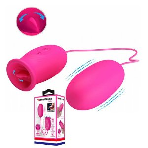 Pretty Love Daisy - bullet cápsula duplo vibrador recarregável em formato de lingua simulador de sexo oral