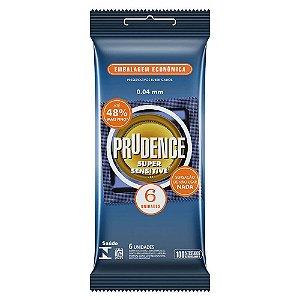 Preservativo camisinha prudence super sensitive - 6uni