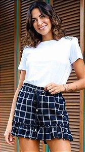 LONDON COLLECTION | Shorts Xadrez Marie Black