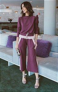 ESPECIAL SALE | Conjunto Blusa Purple Calça Pantacourt