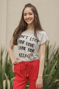 ESPECIAL SALE | Blusa Teen Pizza Bordada