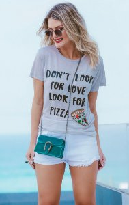 ESPECIAL SALE   Blusa Bordada Pizza