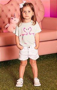 TULUM COLLECTION   Blusa Podrinha Blessinha Flamingo