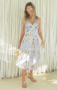 TULUM COLLECTION | Vestido Estampa Yellow Garden