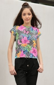 TULUM COLLECTION | Blusa Teen Flowers Butterfly