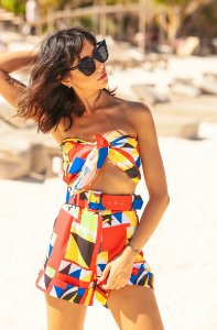 SUMMER PARADISE | Lenço Estampa Toucan Geometric