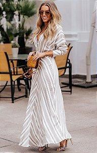 SPRING PREVIEW | Vestido Longo Listrado Serena