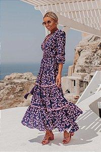 SANTORINI |Vestido Longo Delfos Purple