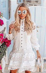 SANTORINI | Vestido Renda Guipir Íris