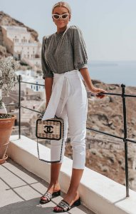 SANTORINI | Calça White Clochard