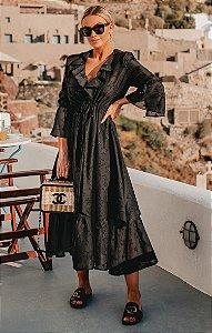 Vestido Platão Estrela Detalhe Gola | BLESSED FRIDAY