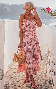 SANTORINI | Vestido Plissado Romã
