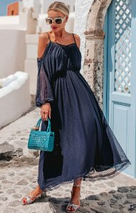 SANTORINI | Vestido Midi Oceania