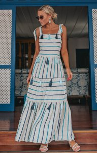 OCEAN VIEWS | Vestido Listrado Cila