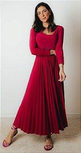 NYC COLLECTION | Vestido Midi Plissado Blair