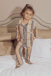 Pijama Blessinha Infantil Bonne Nuit C/ Màscara de Dormir e Scrunchie | L'AMOUR COLLECTION