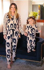 Pijama Couer Love C/ Máscara de Dormir e Scrunchie | L'AMOUR COLLECTION