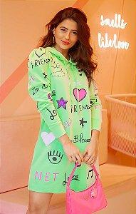 Vestido Grafite Verde C/ Capuz | BLESSED ART