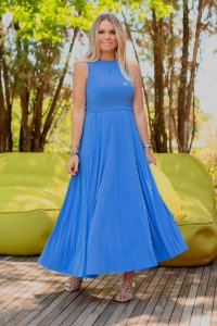 Vestido Lorri Midi Azul   RIVIERA FRANCESA
