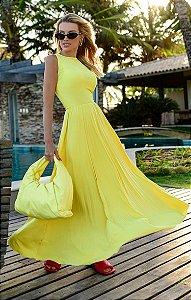 Vestido Lorri Midi Amarelo   RIVIERA FRANCESA