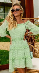 Vestido Delphine Verde | RIVIERA FRANCESA