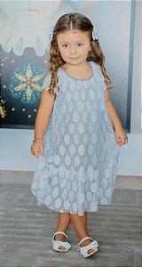 Vestido Infantil Blessinha Shine   RIVIERA FRANCESA