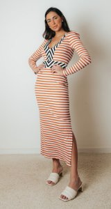 Vestido Midi Colors Stripes | NYC Collection